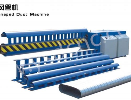 oval-shaped duct machine